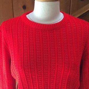 Vintage Peekaboo Red Sweater
